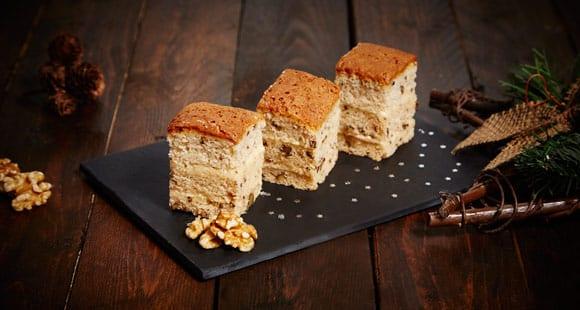 Kaffee-Walnuss-Proteinkuchen | Gesundes Dessert Rezept