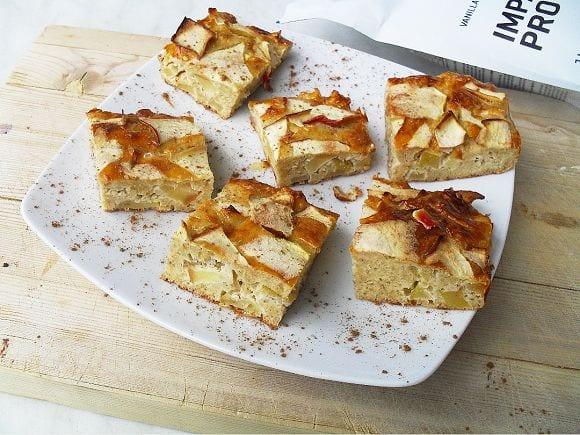 Proteinreicher Apfelkuchen | Fitness Kuchen Rezept