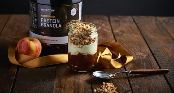 Toffee Apfel Müsli im Glas | Gesunde Leckerei