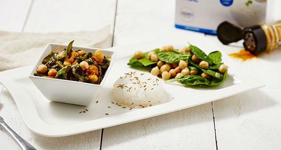 Vegetarisches Curry mit Kichererbsen & Kurkuma
