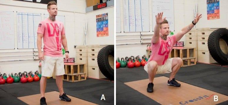 Übung #1: 1-minütige Kniebeugen mit dem eigenen Körpergewicht