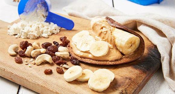 Rosinen Pancake Rolle | Bananen Snack Rezept