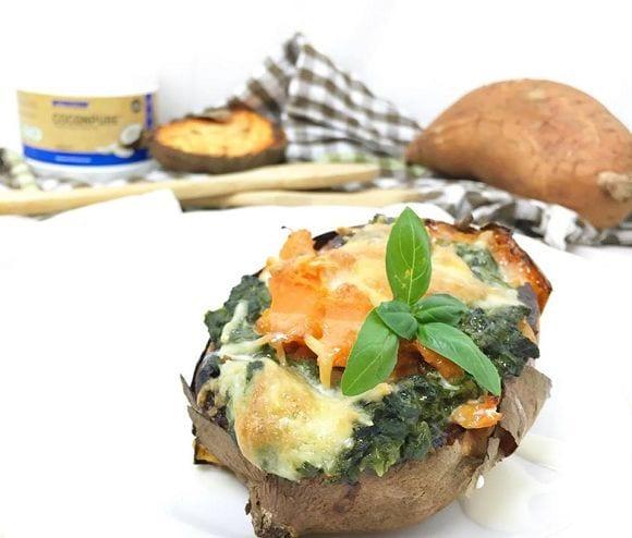 k-gefüllte süßkartoffel