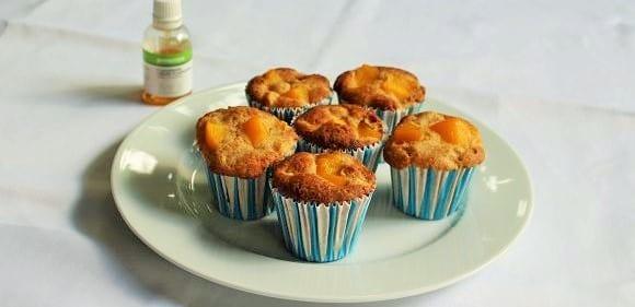 Vollkorn Gebäck | Pfirsich-Zitronen Muffins