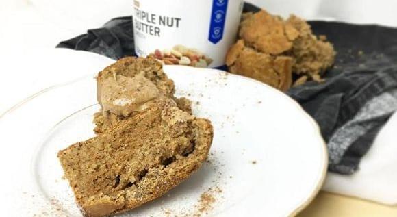 Gesunder 'Muskelaufbau-Snack'| Fluffiger Nuss-Kuchen
