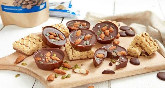Süße Versuchung | Gesalzene Mandeln-Kakao Cups