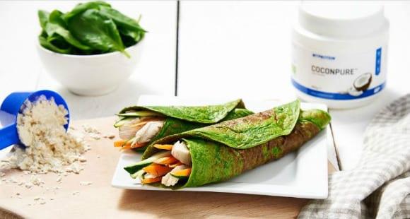 Gesundes Mittagessen | Hähnchen-Spinat Wrap Rezept