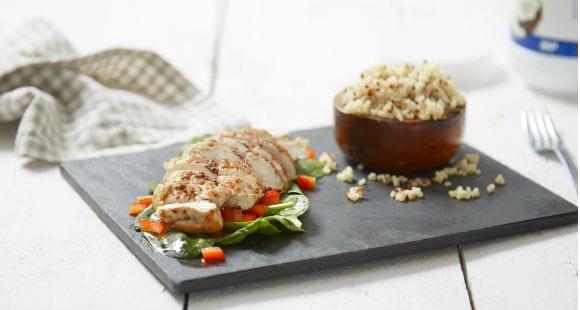 Proteinreiche Mahlzeit | Scharfes Hähnchen Rezept