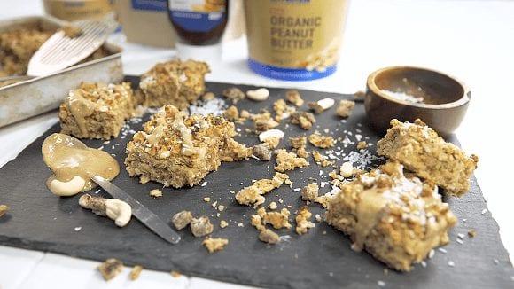Vegane Protein Haferriegel | Gesundes Flapjack Rezept