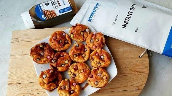 Proteinreiches Muffin Rezept | Smartie Wölkchen