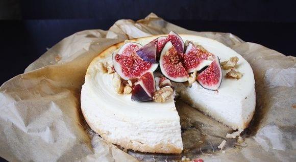 Gesundes Cheesecake Rezept | Proteinreicher Feigen Käsekuchen