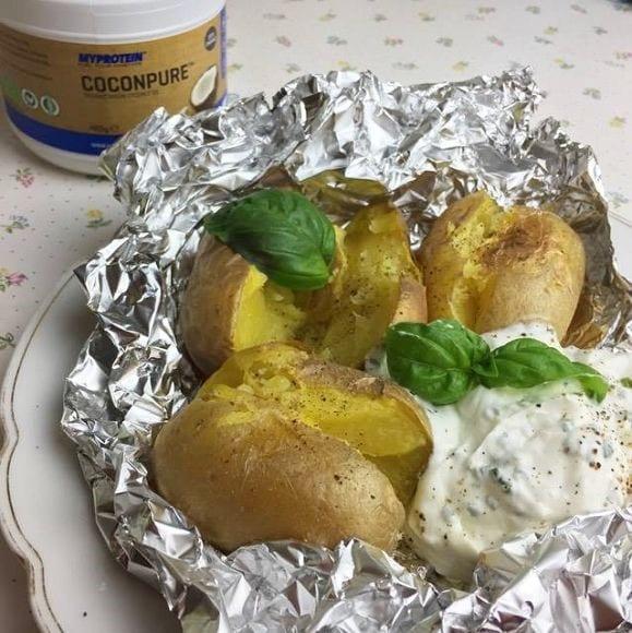 ofenkartoffel mit sour cream