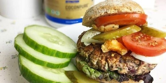 Health Food | Black Beans Burger
