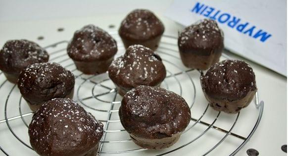 Protein Muffins Rezept | Gesunde Schokomuffins mit Banane und Zimt