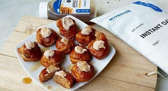 Gefüllte Zimt Muffins |  Protein Muffins Rezept