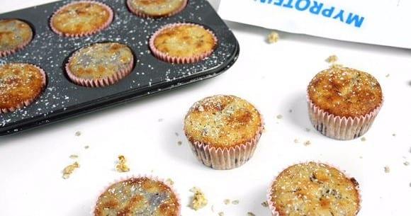 Gesundes Muffin Rezept | Proteinreiches Blaubeer Muffins Rezept