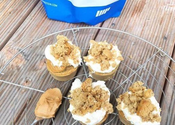 Leckere Peanutbutter Protein Muffins