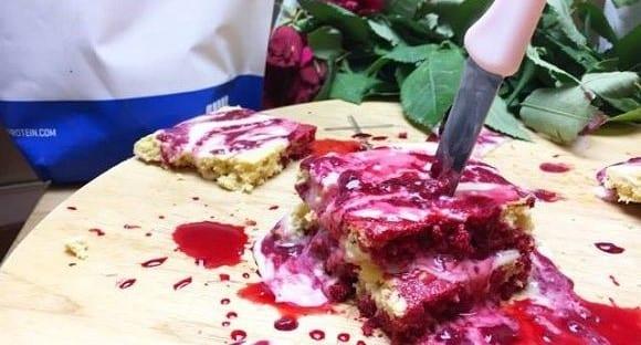 Halloween Rezepte | Blutiger High Protein Kuchen