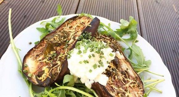 Gebackene Aubergine aus dem Ofen | Gesunde Mahlzeit