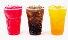 Softdrinks und der Zucker