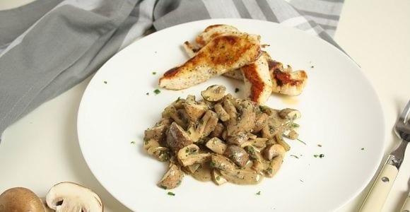Braten Rezepte | Putzenschnitzel mit Pilzsauce Fettarm