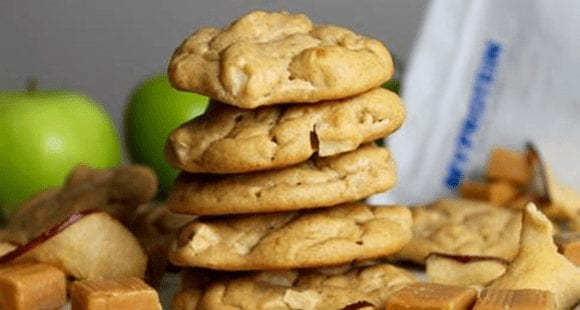 Gesund Backen | Protein Apple-Caramel Cookies