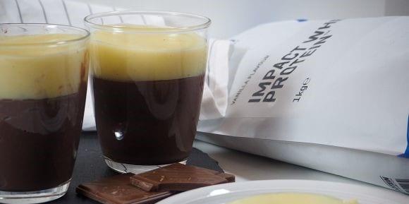 Dessert Rezepte | Zuckerfreier Schokopudding mit Protein Vanillecreme