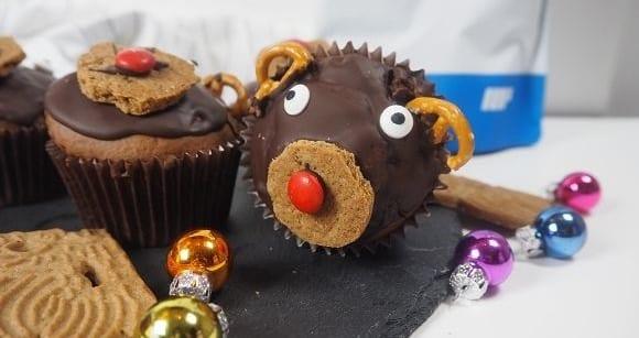 Weihnachts Rezept | Proteinreiche & Gesunde Rudolf-Muffins