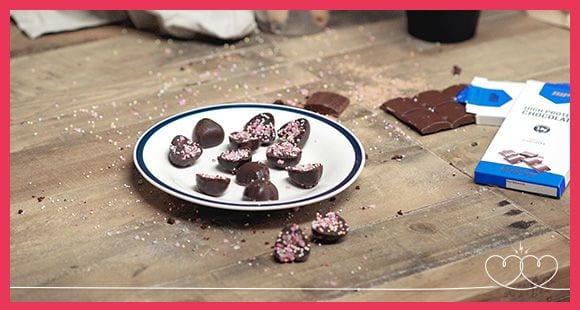 Valentinstagsrezept | Proteinreiche Schoko-Herzen