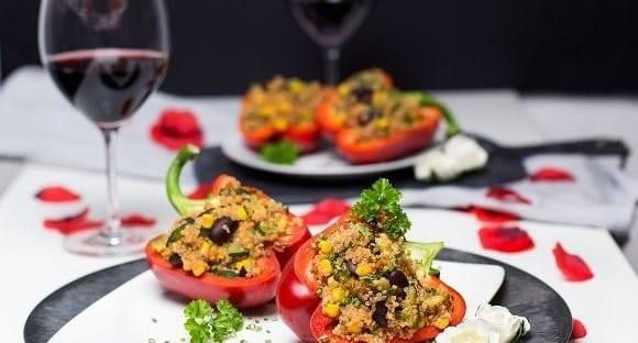 Valentinstags Dinner | Leckere Gefüllte Paprika mit Quinoa