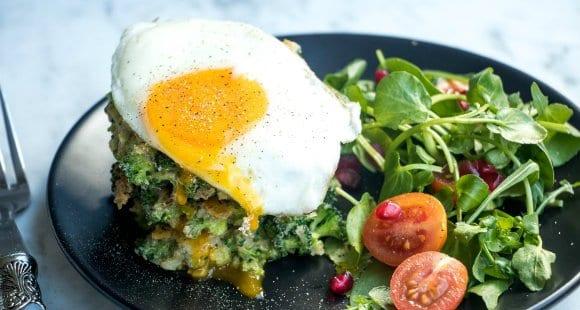 Gesunde Mahlzeit - Brokkoli Puffer