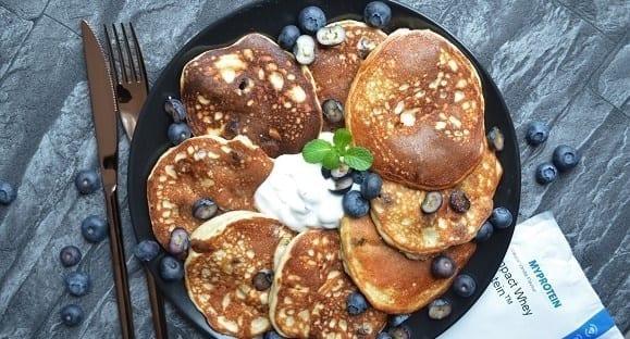 Lust auf Blaubeer Pancakes? Proteinreich & Lecker!