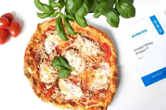 Leckere Proteinpizza | Aus Dinkelmehl & Proteinpulver – Fettarm