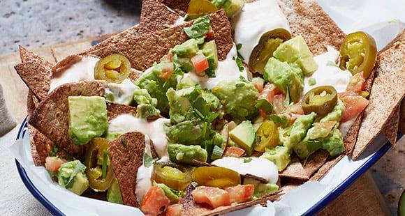 Gesunde Nachos mit Sour Cream & Guacamole | Protein Gewürzmischung