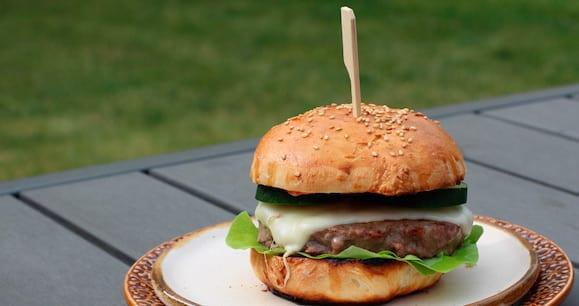 Fettreduzierter Cheeseburger | Gesundes Burger Rezept