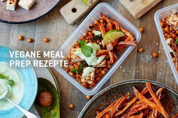Veganes Meal Prep Rezept | Scharfe Vegane Bowl & Schokoladen Protein Balls