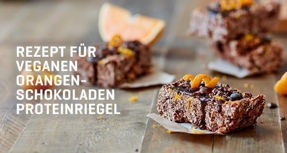 Hausgemachte Vegane Protein Riegel | Schokolade Orange