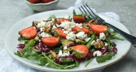 Frühlingsgemüsesalat Maqui Beeren – Dressing | Salat Rezept