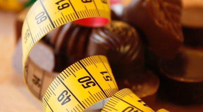 Messband und Schokolade