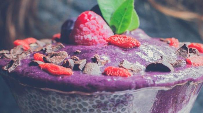 Proteinreicher Chia Samen Pudding