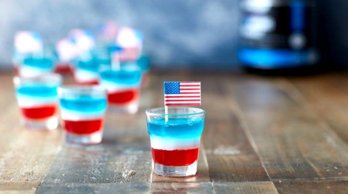 Independence Day | Jelly Shots für den Unabhängigkeitstag