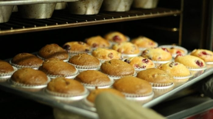Muffin Rezept | High Protein Himbeer-Marmor Muffins