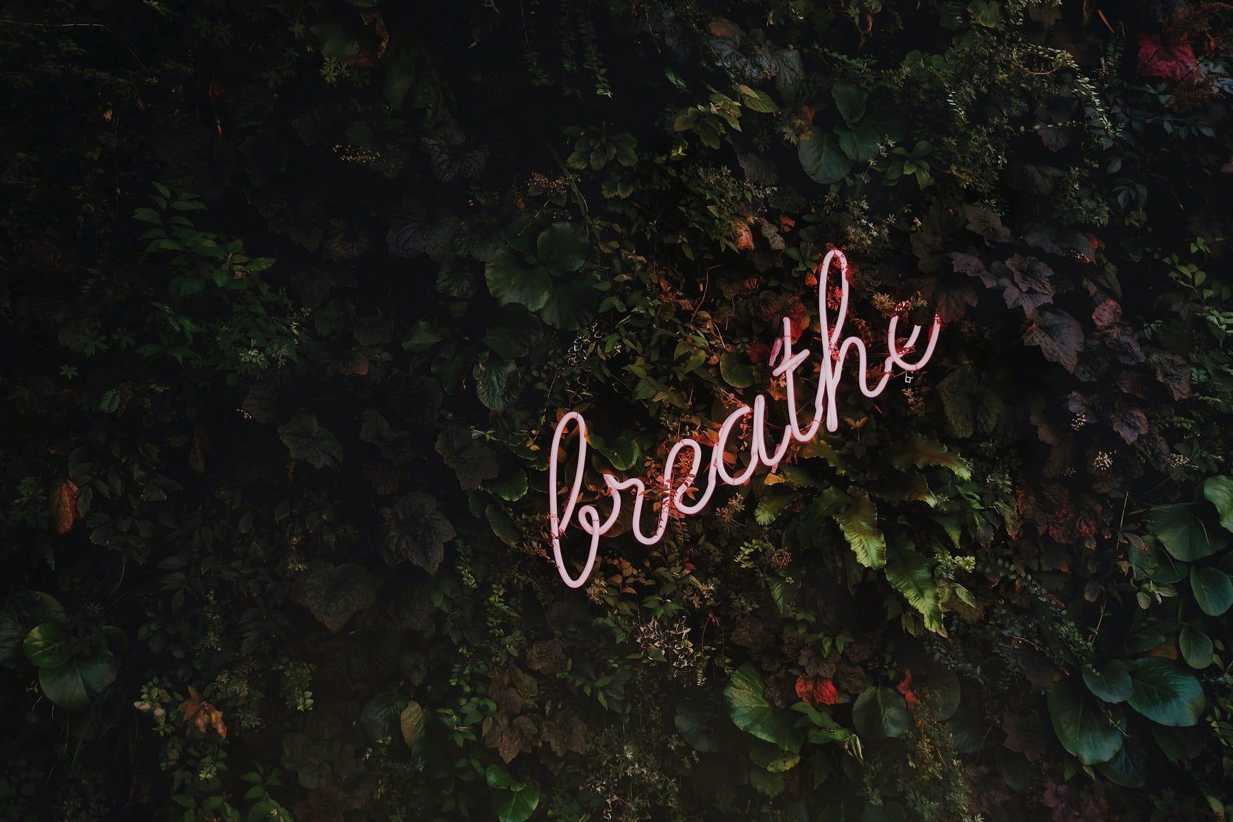 Zeichen das Breathe sagt
