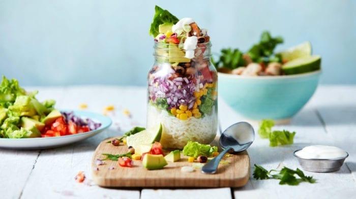 Kalorienarme Burrito Weckgläser | Meal Prep für 4 Tage