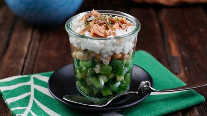 Salat im Glas | Weiße Bohnen mit Thunfisch
