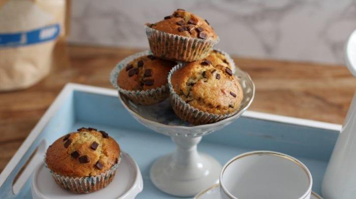 Teff Muffins mit Schokostücken