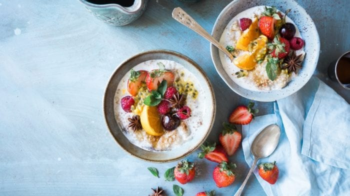 Vegane Rezepte | Schnelles Milchreis Rezept mit Granatapfel