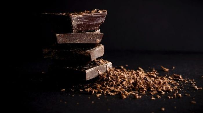Hausgemachte Schokoladen Protein Trüffel