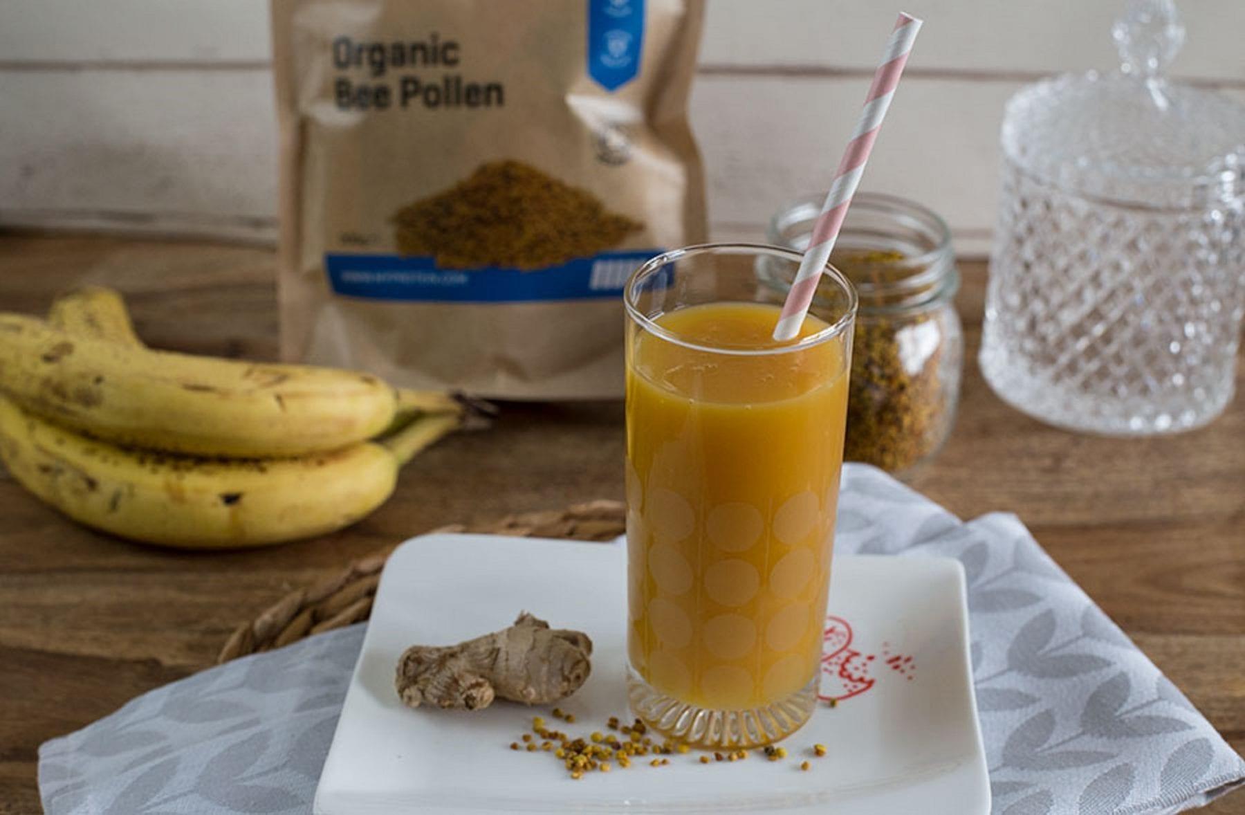 Mango Orangen Ingwer smoothie