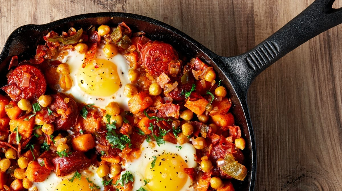 Bauernfrühstück mal anders | leckeres Muskel aufbauendes Frühstück